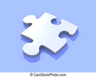 Puzzle piece - 3D Illustration of a Puzzle Piece.