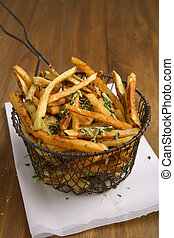 Home cut french fries - Fresh home cut french fries with...