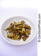 Roasted Fingerling Potatoes with shallots and green onions