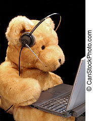 Bear Customer Service - A teddy bear prepared for customer...