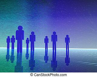 3D people - team of people