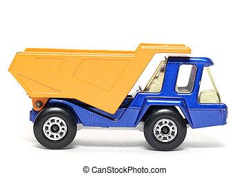 oud, speelbal, stortplaats, vrachtwagen