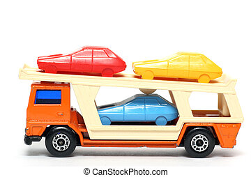 Toy car Transporter - Picture of a old small Car Transporter...