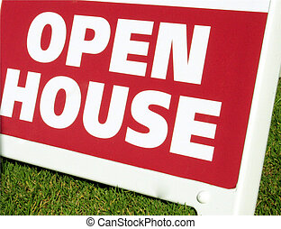 Open House - An Open House sign in a neighbourhood