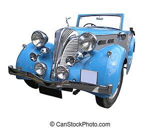 Triumph Dolomite - A 1937 Triumph Dolomite isolated on a...