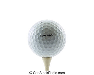 Golf Ball - Photo of a golfball with the word control on it...