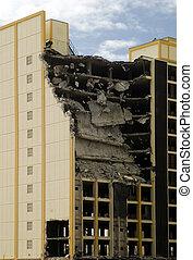 Demolition building - Building under demolition, building...