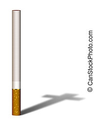 Cigarette shadow - Illustration of cigarette a cross shadow...