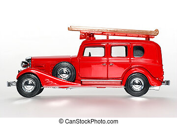 1933 Fire Engine - Picture of a 1933 Fire Engine classic toy...
