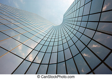 Reflections in a Skyscraper Facade