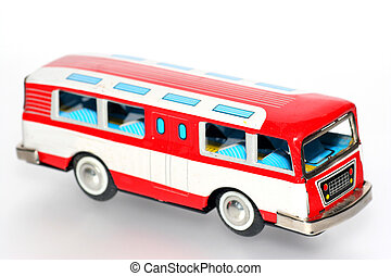 Tin toy bus - One of the many thousand toys my brother is...
