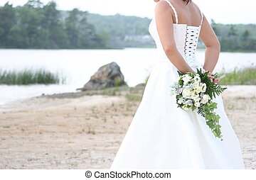 Bride by Lake