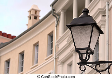 lampa,  post