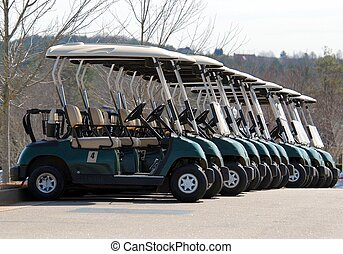 Golf Carts - Photographed golf carts at local course in...