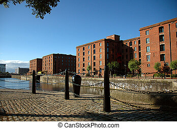 Albert Dock - A view of the Albert Dock complex in the city...