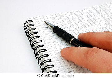 notebook and pen 5 - on white background