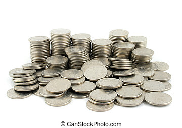 Money - 10 Pence Pieces - Stack of 10 Pence Coins