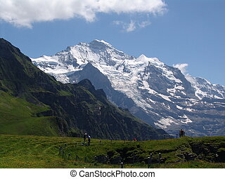 Jungfrau Vista - A view of the Jungfrau mountain taken from...