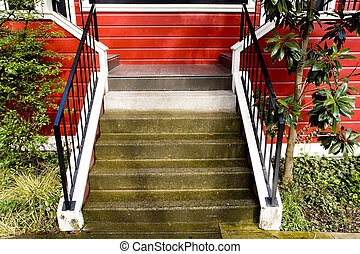 Stairs, Red House - Photo of stairs leading to an attractive...