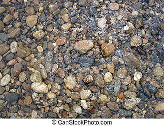 Water stones - Pebble on the bottom of mountain river