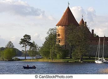 Castle in Trakai - Castle by the lake. Picture taken in...