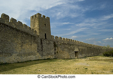 battlement - fortress Akkerman, city Belgorod-Dnestrovskiy,...