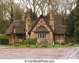 Thatched cottage - A very rustic English thatched cottage on...