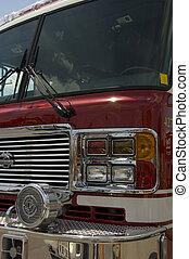 Firetruck siren - firetruck siren on a ladder truck