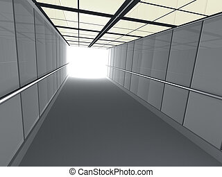 Corridor leading to light - 3d corridor leading to light.