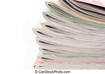 heap of magazines