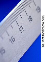 ruler - special blue toned photo f/x,focus point on the...