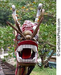 Talisman - talisman on a chinese boat, Lantau, Hong Kong,...