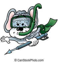 Mouse diver - Mouse 04 diver - High detailed and coloured...