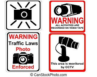 camera and CCTV signs - camera and CCTV warning signs...