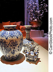 China vases in luxury interior decoration