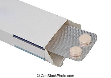 píldoras, caja