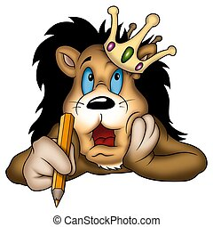 Lion king painter - Lion 04 king - High detailed and...