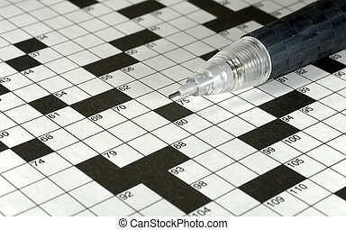 Crossword Puzzle - Photo of a Pencil on a Crossword Puzzle