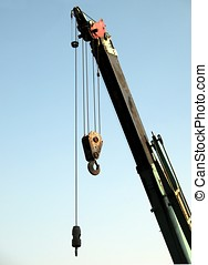 Extendable Crane - -- the tip of the arm with hook and...