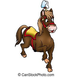Brown circus Horse 02- High detailed and coloured...