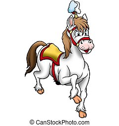 White circus Horse 03- High detailed and coloured...