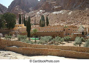 St Catherine\\\'s Monastery hostel and medical garden