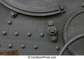 Cannon detail - Detail of a cannon in Montjuic Castle,...