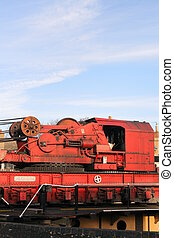 Breakdown Train Crane Unit at a Preservation Railway