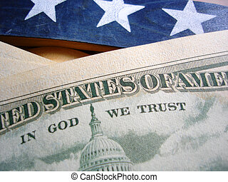 In God We Trust - Macro of In God We Trust on 50 Dollar Bill...