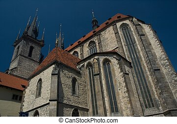 Tyn Cathedral in the heart of Old Town Prague.