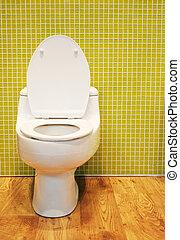 biały, toaleta