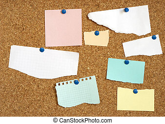 empty paper blanks for your text or design - focus point on...
