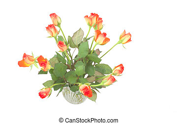 roses in a vase - bouquet of roses in a vase taken from...