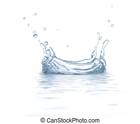 Water is splashing Use it for concepts